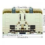 BORNE DE PUISSANCE WAGO 400-490/490-005 55 MM RACCORD À BOULON GRIS 1 PC(S)