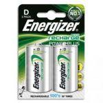 ENERGIZER BLISTER DE 2 PILES HR20 RECHARGEABLES 2500 MA