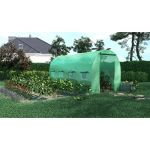 SERRE DE JARDIN TUNNEL 8M2 - 4X2M - GREEN ROOF