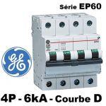 DISJONCTEUR TéTRAPOLAIRE COURBE D 6KA - GENERAL ELECTRIC